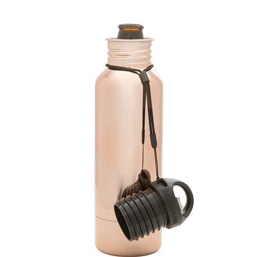 BottleKeeper - The Standard 2.0 Beer Bottle Insulator - Cap with Built in Beer Opener and Tether - Fits & Protects Standard 12oz Bottles - Insulated Beer Bottle Holder - Gold