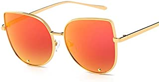 SGJFZD Men Women Outdoor Seaside Sunscreen UV400 Polarized Sunglasses New Fashion Trendy Polarized Sunglasses Large Frame Elegant Sunglasses Quality Ladies Polarized Sunglasses (Color : Red)