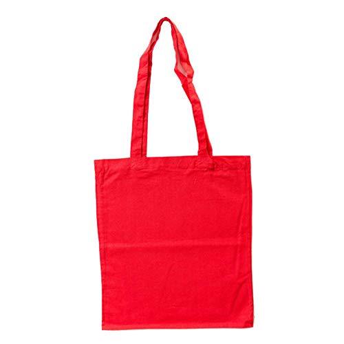 Bags by Jassz Stoffbeutel aus Baumwolle mit langen Henkeln (ca. 38 x 42 cm, Red)