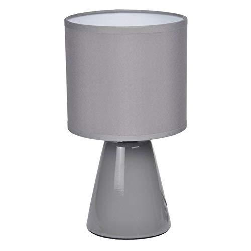 Paris Prix - Lampe à Poser Céramique Conique 22cm Gris