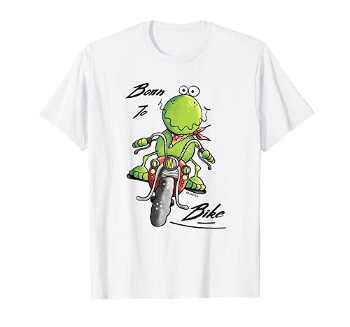 Born To Bike Frosch I Motorrad Fan Biker Fun T-Shirt