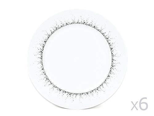 Table Passion - Assiette plate Boréalis gris 27 cm (Lot de 6)