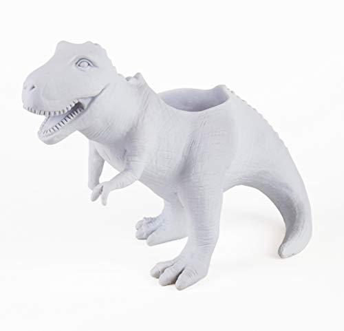 Gift Republic T-Rex - Vaso per piante, colore: Bianco