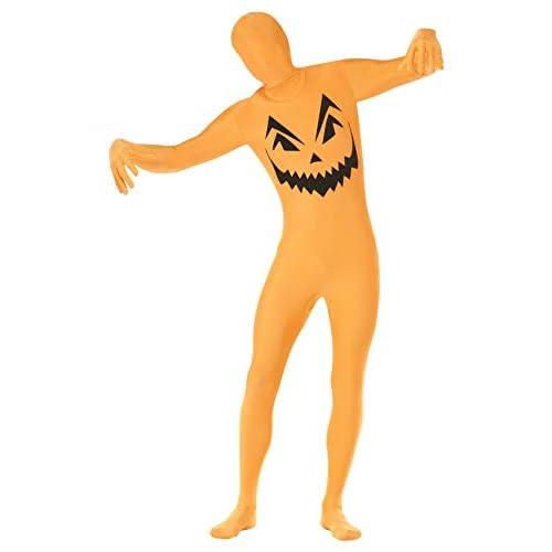 Smiffys Costume da Mimo Zucca, Arancione, con Marsupio, Zip Nascosta e Apertura sotto Il