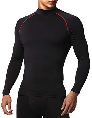 Defender Compression Camiseta masculina Under Soccer Golf Jerseys Football Gear, Df-lt21-blackred, Medium