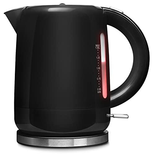 Medion MD 18090 1.5L 2200W Noir, Argent - Bouilloire électrique (2200 W, AC)