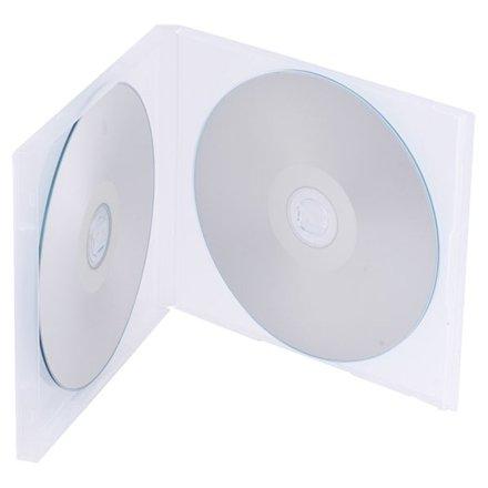 1 x Funda doble transparente para CD/DVD inastillable – 10,4 mm lomo marca Dragon Trading producto: Amazon.es: Electrónica