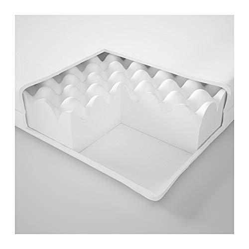 IKEA Malfors - Colchón de espuma (90 x 200 cm), color blanco