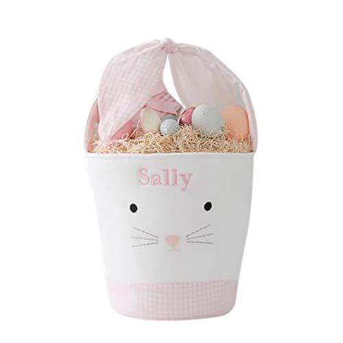 BestSiller Cubo de conejito de dibujos animados de Pascua, cesta de regalo de dulces para niños, cesta de huevos de Pascua