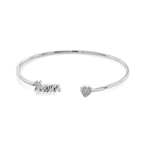 Gszpxf Moda Ajustable Cristal Doble corazón Bowknot Chain & Link Bracelets Mujer Joyería Regalo (Color : Pink1)