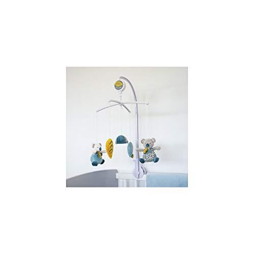 Doudou et Compagnie - Mobile Musical Bébé Avec Peluche Koala - 41x11x30 cm - Bleu - Yoca Le Koala - DC3687