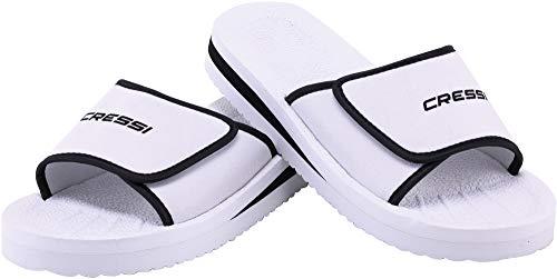 Cressi Shoes Panarea Ciabatte per Spiaggia e Piscina Unisex, Bianco, 43