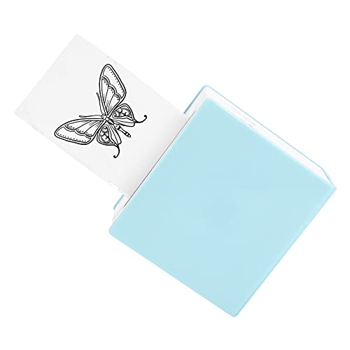 M02 Portable Pocket Printer - Mini Portable Sticker Printer Bluetooth Sticker Maker Printer Compatible with Android iOS for Making Study Notes, Memo, Journal, Fun, 1 Roll of Stickers Included