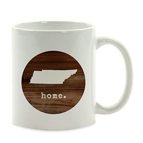 Taza de café de Regalo del Estado de EE. UU, Casa de Madera rústica, Tennessee, 11 oz
