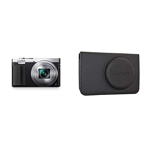 Panasonic DMC-TZ71EG-S Lumix Kompaktkamera (12,1 Megapixel, 30-Fach Opt. Zoom, 7,6 cm (3 Zoll) LCD-Display, Full HD, WiFi, USB 2.0) Silber & DMW-PHS72XEK Kameratasche Lumix DMC-TZ60,schwarz