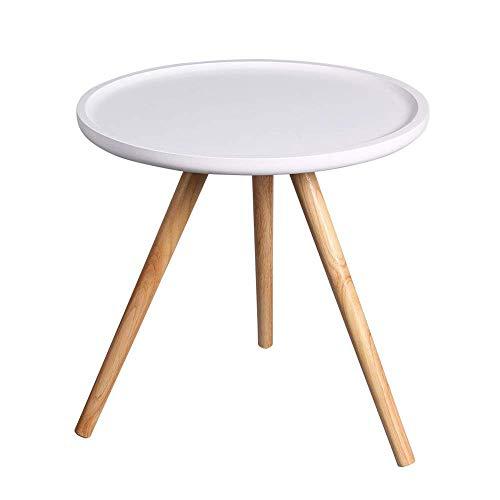 Axdwfd Table basse table de salon moderne décoration table d'appoint ronde salon balcon maison et bureau 48 * 47cm (blanc)