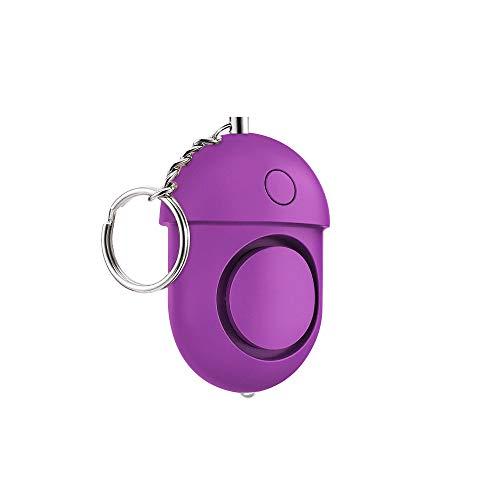 LJ2 Notfallalarm, 125-130 dB Safe Sound Security Alarm, Schlüsselbund LED-Taschenlampe für Frauen, Mädchen, Kinder, Senioren Explorer,E