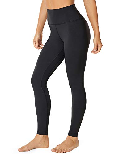 VANTONIA Women's Leggings High Waisted Tummy Control Full-Length Workout Yoga Pants Black Small