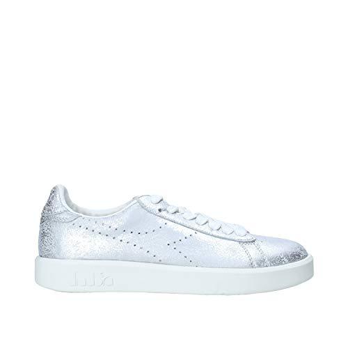 Diadora Heritage, Donna, Game Silver, Pelle, Sneakers, Grigio, 38 EU