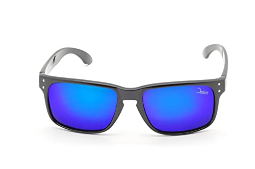 Desire BlackRiver - Gafas de sol (PET recicladas, UV400, unisex, lentes de espejo en varios colores)