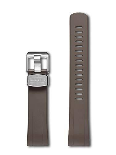 CRAFTER BLUE CB08 Uhrenarmband mit Rundanstoß Gummiband Ersatz für Seiko Turtle Prospex Automatic Dive Watch SRP773, SRP775 etc Braun