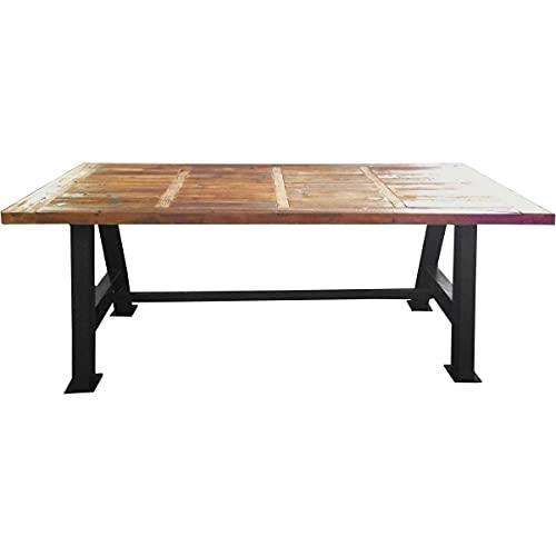 Antic line créations Grande Table Industrielle Bois et métal 200 cm