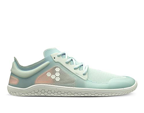 Vivobarefoot Primus Lite Ii Recycled, Womens Vegan Light Movement Breathable Shoe with Barefoot Sole Ocean Mist