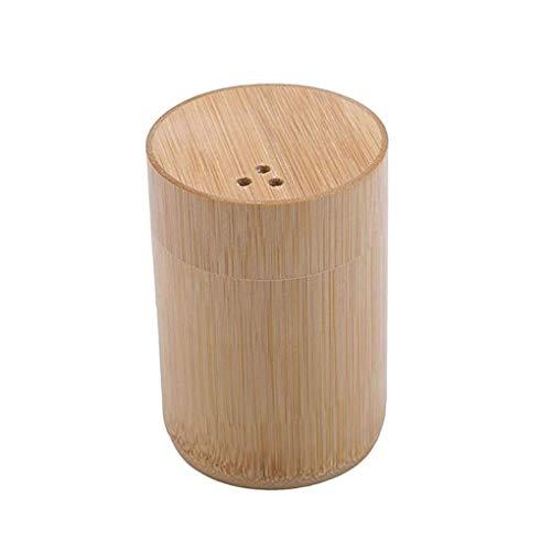 WWWANG Palillo de Dientes Creative Box Talla de bambú palillo Titular Moderna Casa y jardín Tarro palillo de Dientes portátil Almacenamiento pequeño, práctico y portátil (Color : Wood Color)