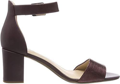 Clarks Deva Mae, Zapatos tacón. Mujer, Rojo Rojo