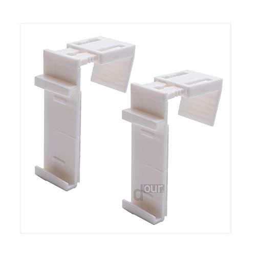 ourdeco® Doppel-Rollo, Duo-Rollo/Zubehör Ersatz-Klemmträger/Klemmen=Montage ohne Bohren=Smartfix=Klemmfix=Easy-to-fix