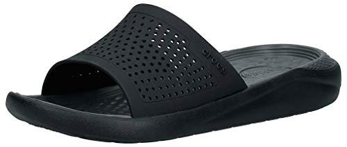 Crocs LiteRide Slide, Unisex-Adulto, Black/Slate Grey, 36/37 EU