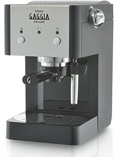 Gaggia RI8425/11 Gran Deluxe coffee maker - coffee makers (freestanding, Manual, Espresso machine, Ground coffee, Espresso, Coffee, Black, Silver)