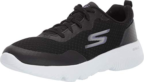 Skechers Women's Go Run Focus Trainers, Black (Black Textile/Purple Trim Bkpr), 5 UK (38 EU)