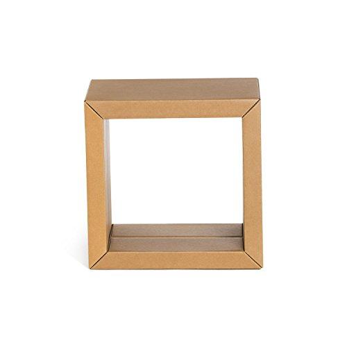 Stange Regal Element mittel naturbraun aus Pappe 4 Würfel 45 x 45 cm