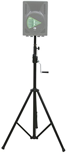 ASC Pro Audio Mobile DJ Light Stand 10 Foot Height Crank Lighting or Speaker Tripod