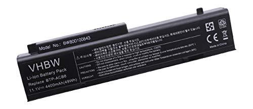vhbw Batterie LI-ION 4400mAh 11.1V Noir Compatible pour FUJITSU-Siemens remplace BPT-ACB8, 05N00021 6046l01.021, 60.4B301.011