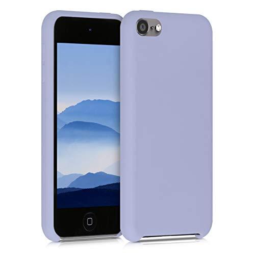 kwmobile Funda Compatible con Apple iPod Touch 6G / 7G (6a y 7a generación) - Carcasa Protectora de Silicona - Case Trasero en Lavanda Pastel