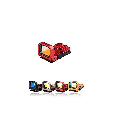 Qiulan- Red Dot Compact RMR Flip Red Dot Reflex Sight Compact Reflex Sight for Glock Mounts and Slides (Red)