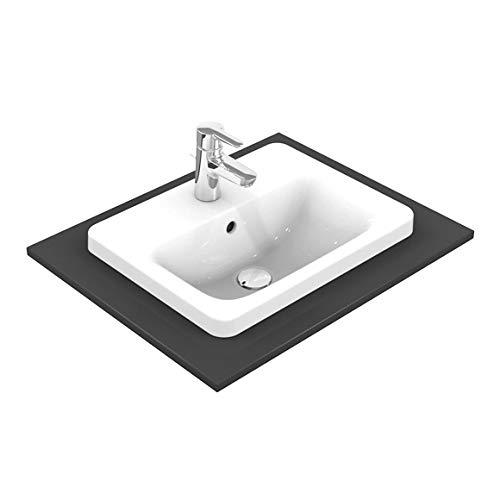 Ideal Standard Connect Aufsatzwaschbecken 580x 430x 175mm mit Überlauf weiß E5044MA, rechteckig, mit 1Hahnloch Ideal Plus