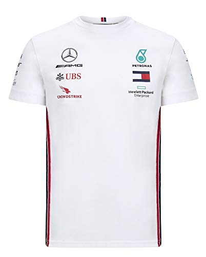 Mercedes メルセデス AMG ペトロナス F1チーム Tシャツ ホワイト 2020 (S:着丈67cm身幅49cm)