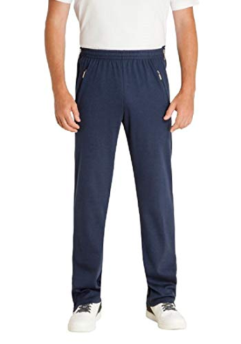 hajo - Pantaloni da riabilitazione, da uomo, con chiusura lampo sulla gamba, per jogging o per il tempo libero Marine (609). 34