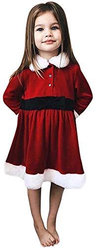 Jacket Vestido de Navidad para bebés y niñas, para niños pequeños, para bebés y niñas, de 1 a 5 años (color: rojo, talla: 4 a 5 años)
