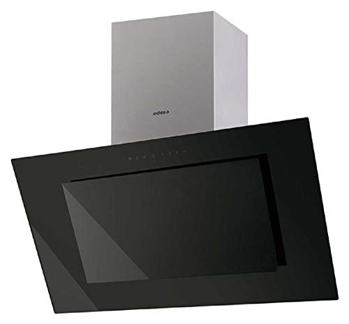 Edesa / ECV-9831 GBK / EEK A / Kopf-freie Dunstabzugshaube / 90 cm / 850 m3 / h / 50 dB / schwarz Glas Edelstahl / ECO LED