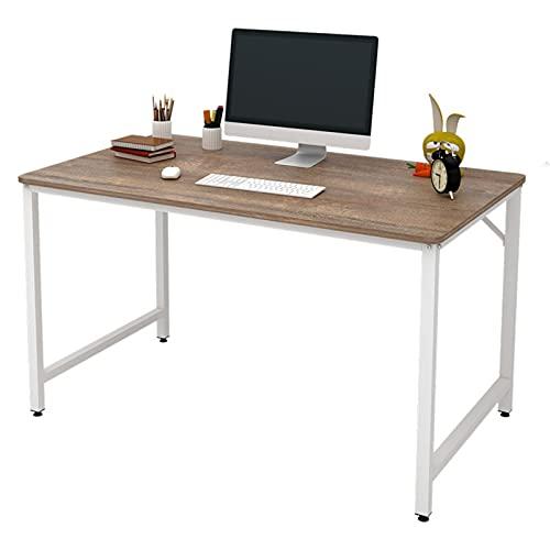 Escritorio de computadora Mesa de oficina robusta industrial Escritorio moderno del estudio del ordenador portátil de la PC para estación de trabajo de oficina en casa 40 pulgadas Marrón Rústico