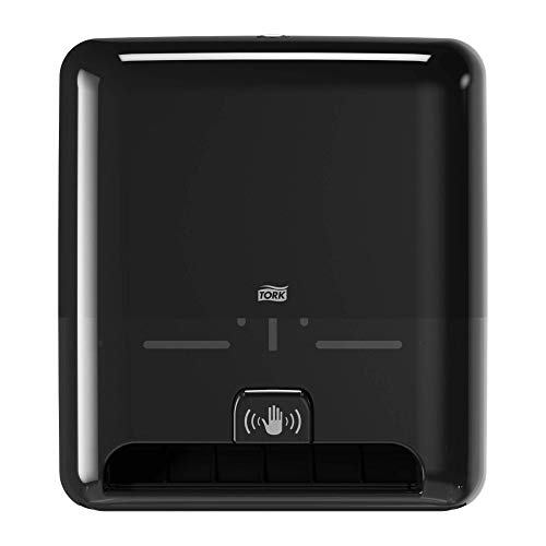 Tork Matic Hand Towel Roll Dispenser with Intuition Sensor 5511282, Elevation Design - Paper Hand Towel Dispenser H1, non-contact one-at-a-time dispensing , Black
