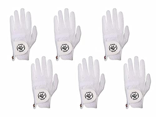 Simple Symbol Women's RainGrip Golf Glove,Hot Wet Weather Comfort,Six Pack (Six Left Hand Or Six Right Hand) Four Colors,Pink/Purple/White/Green, Left Hand Right Hand(White,S,Left)