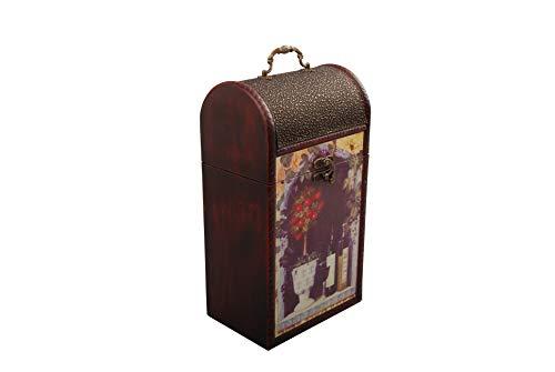 MYBOXES Geschenkverpackung 2 Weinflaschen Größe 20,8x14,4x37,5cm