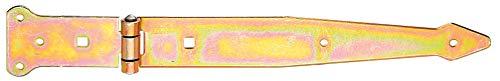 GAH-Alberts 315344 Werfgehänge | mit vernietetem Stift | galvanisch gelb verzinkt | Band 300 x 45 mm | Scharnier 101 x 63 mm