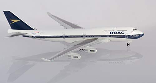 herpa 533317 British Airways Boeing 747-400 100th Anniversary BOAC Heritage Design in Miniatur zum Basteln Sammeln und als Geschenk, Mehrfarbig