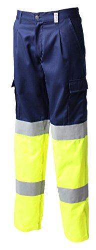 Siwings Labor-Hose, hohe Sichtbarkeit, Gelb / Orange | Reflektierende Bänder, mehrere Taschen, Sicherheit, Gelb 56